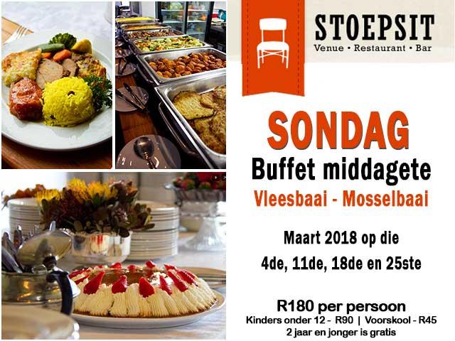 Stoepsit Restaurant Vleesbaai Buffetmiddagetes