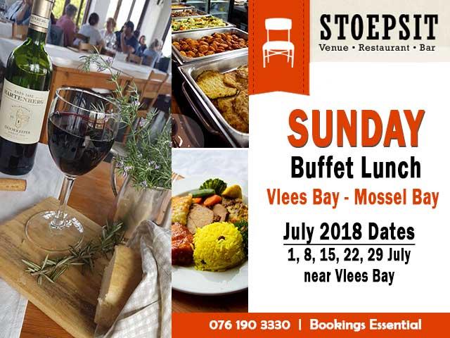 Sunday Lunch at Stoepsit Restaurant Vlees Bay
