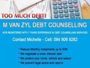 M van Zyl Debt Counselling Mossel Bay