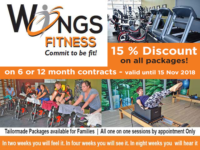 November Discount Wings Fitness Mossel Bay