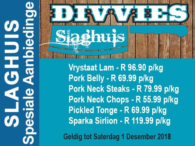 Spesiale Aanbiedinge by Slaghuis in Hartenbos
