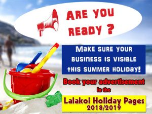 Advertise in the Lalakoi Holiday Pages