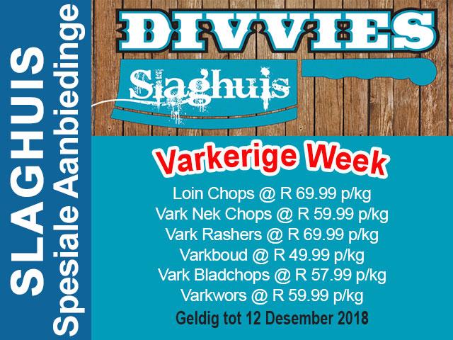 Varkerige Week Slaghuis Promosie Hartenbos