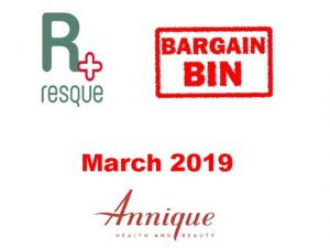 Annique Resque Bargain Bin Deals for March 2019