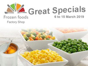 March 2019 Specials on Frozen Vegetables in George