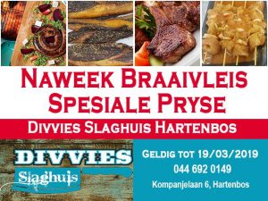 Naweek Braaivleis Spesiale Pryse Hartenbos