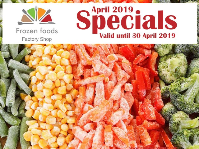 April 2019 Specials on Frozen Foods in George