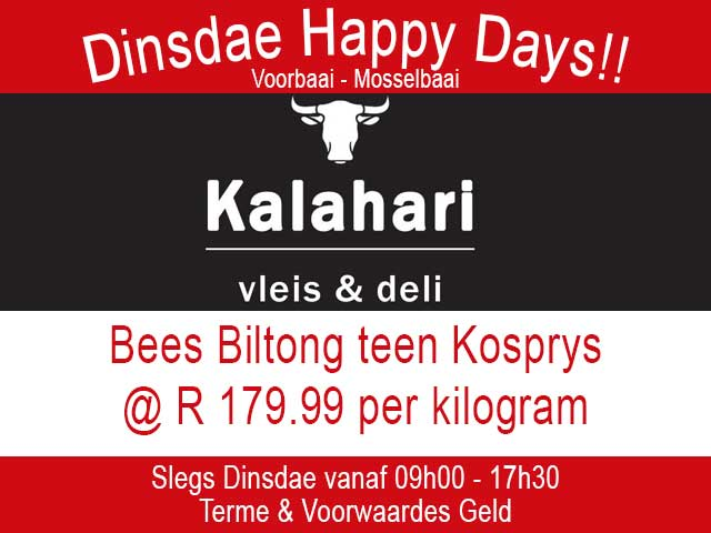 Bees Biltong teen Kosprys in Mosselbaai