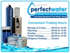 Absolutely Perfect Water George Trading Hours