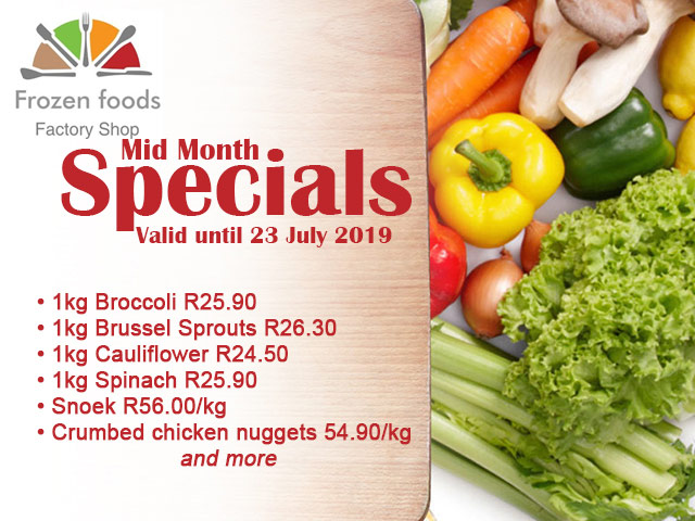 Mid July Specials at Frozen Foods Factory Shop