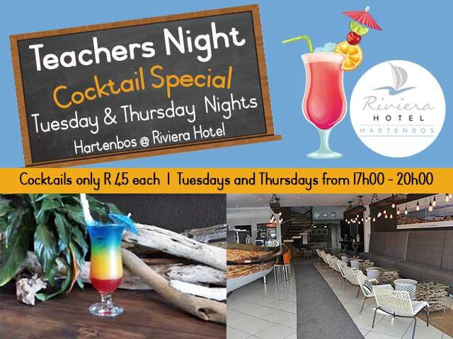 Teachers Night Cocktail Special Hartenbos
