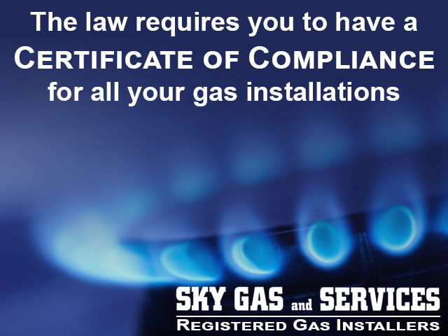 Certificate of Compliance for Gas Installations in George
