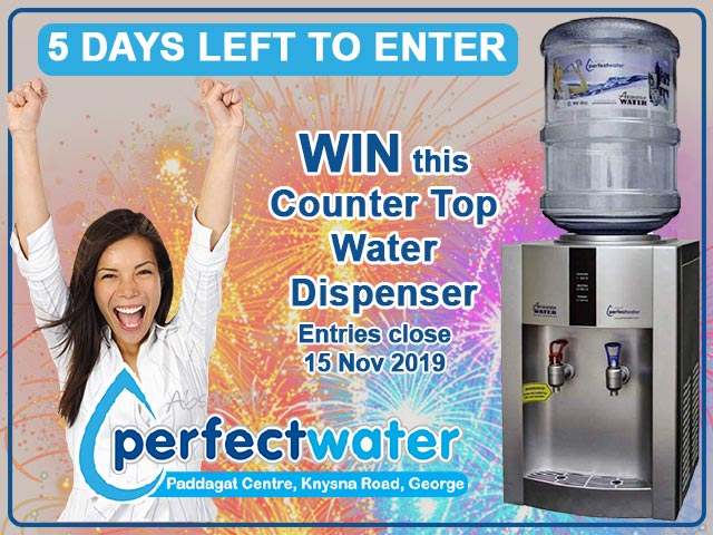 You Can Win a Counter Top Water Dispenser from Perfect Water George