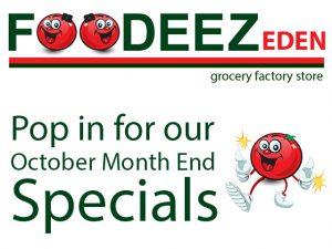 Foodeez October Specials