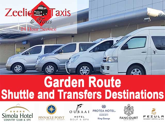 Garden Route Shuttle and Transport Destinations