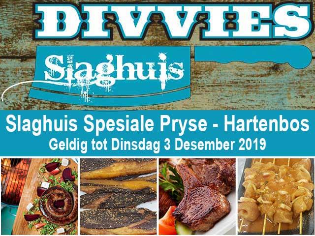Slaghuis Spesiale Pryse-Hartenbos tot 3 Desember 2019