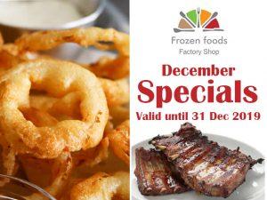 December Specials at Frozen Foods Factory Shop in George