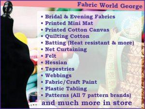 Big Variety of Fabrics in George