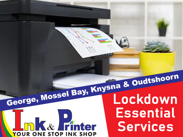 Ink and Printer Essential Services During Lockdown