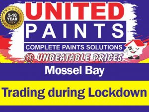 United Paints Mossel Bay Trading During Lockdown