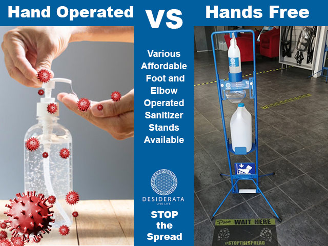 Stop the Spread with Hands Free Sanitizer Stands