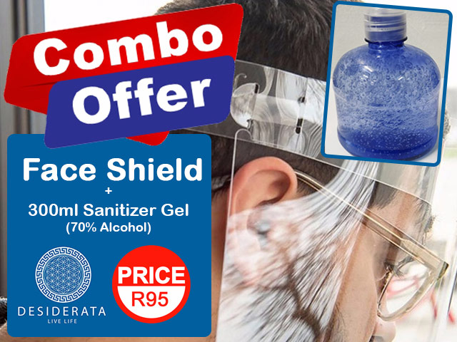 Face Shield and Sanitizer Combo Offer in George