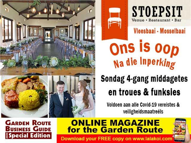 Stoepsit Restaurant Vleesbaai Oop na die Inperking