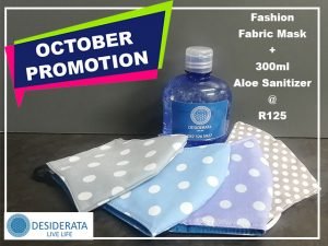 Fabric Mask and Aloe Sanitizer Promotion in George