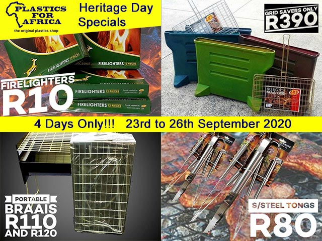 Plastics for Africa George Heritage Day Specials 2020