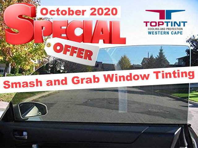 Special on Smash and Grab Window Tinting in George