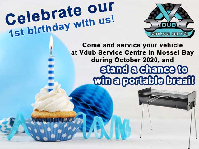 Celebrate Vdub Service Centre's 1st birthday and win!