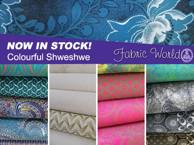 Colourful Shweshwe in Stock at Fabric World George