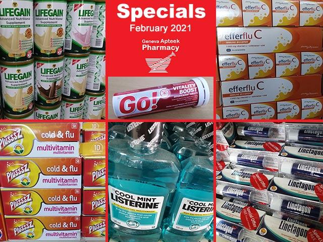 Geneva Pharmacy George February Specials