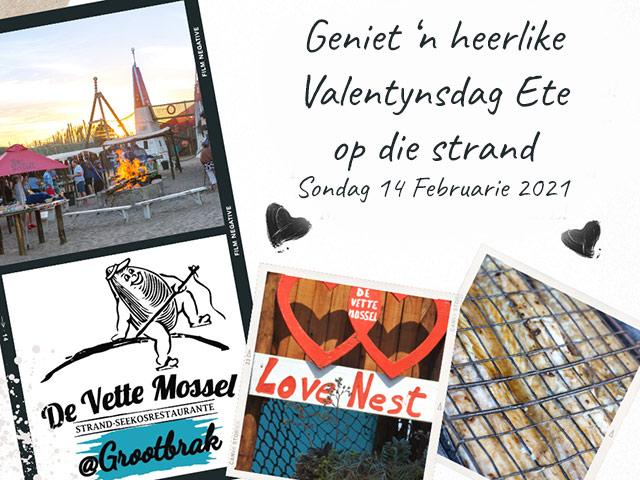 Valentynsdag Ete by De Vette Mossel Grootbrak
