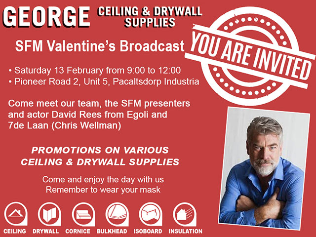SFM Valentine's Broadcast at George Ceiling & Drywall Supplies