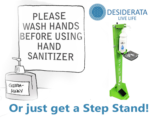Hand Sanitizing Step Stands in George