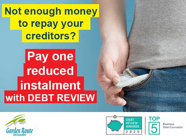 Not enough money to repay your creditors?