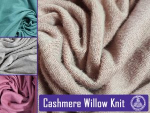 Cashmere Willow Knits Available from Fabric World George