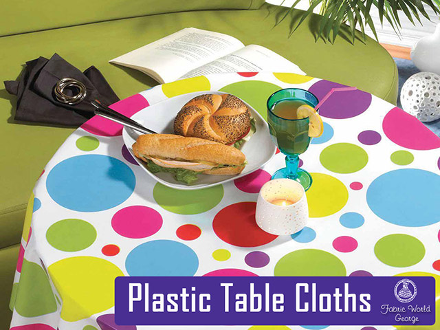 Table Cloth Plastic in stock at Fabric World George
