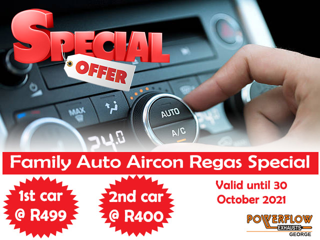 Vehicle Aircon Regas Special in George